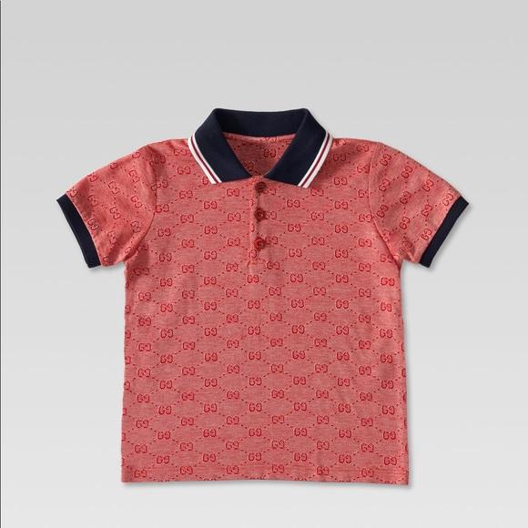 2f13e4cb Gucci Shirts & Tops | Boys Pique Gg Polo | Poshmark